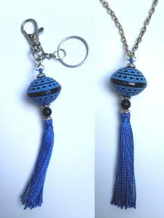 Nouveau Tuto sur le blog d'une affaire de Filles : bijou de sac / porte-clés / pendentif #DIY #jewelry #bijou