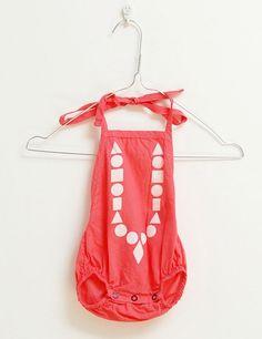 Red poplin suit, really loving this! #estella #girls #fashion #swim #suit Minimoda.es