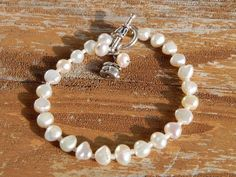 freshwater pearls sterling  bunny  charm & by purpledaisy56, $18.00