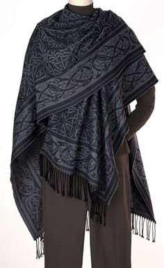 Merino Wool Celtic Ruana....LOVE this!!! (A mere $ 140, sigh.)
