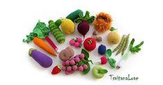 Etsy find of the day - crochet fruit & veg set