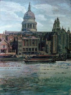 Duncan Grant (UK, - St Paul's - 1934 - oil on canvas - Government Art Collection, London Duncan Grant, Ben's Bells, The English Patient, Vanessa Bell, Bloomsbury Group, London Landmarks, Camden Town, London Art, London Pride