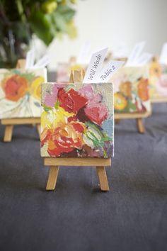 DIY Mini Masterpiece Escort Cards! #weddings