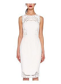 View product Ted Baker Verita Cut-Work Bodycon Dress