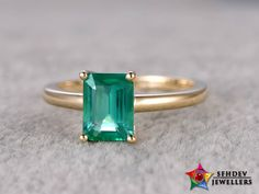 Emerald gemstone helps those individuals who are facing trouble with the ability to concentrate or focus. Shop for Precious emerald gemstone at affordable prices. Emerald Wedding Rings, Antique Wedding Rings, Vintage Rings, Personalized Jewelry, Custom Jewelry, Gold Jewelry, Emerald Jewelry, Natural Emerald, Emerald Cut