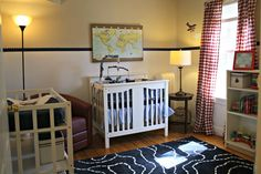 This @IKEA USA rug is a great fit for this travel-themed nursery! #nursery #IKEA