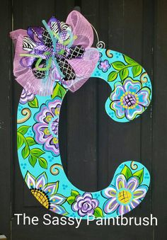 Check out this item in my Etsy shop https://www.etsy.com/listing/270874019/whimsical-letter-door-hanger-any-letter