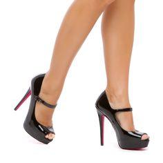 classic Mary Jane silhouette with flirty peep-toe