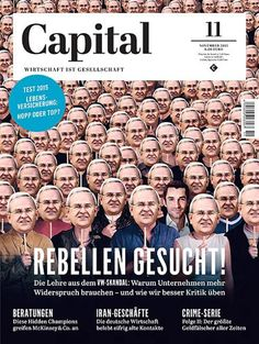 Capital (Germany) New 'Being John Malkovitch' inspired cover Capital Magazin from Germany Editor in chief: Horst von Buttlar Art Director: Kerstin Ballies Photo Director: Max Miller Photo Editor: Maximilian Virgili