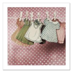 hanging little girl paper doll dresses 40's on clothesline string for a fun party/decor bunting