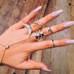 Nail art from the NAILS Magazine Nail Art Gallery, gel-polish, nail art designs, Fake Tattoo, Nail Jewelry, Jewellery Rings, Fashion Jewellery, Fashion Rings, Jewlery, Nail Accessories, Fashion Accessories, Cartier Love Bracelet
