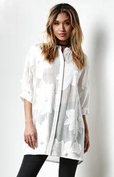 Aviva Lace Shirt Dress