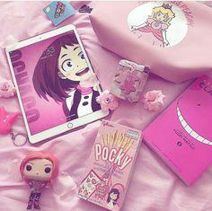 Pink #anime #animegirl #bokunoheroacademia #pink #uraraka #love
