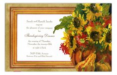 Gourds and Blooms Invitation from Odd Balls
