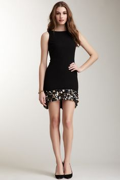 Romeo & Juliet Couture, Sleeveless Paillette Trim Dress