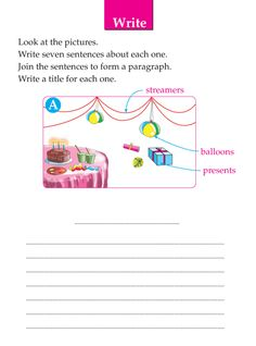 Writing skill - grade 1 - picture composition (10) Reading Comprehension Grade 1, 2nd Grade Reading Worksheets, 1st Grade Writing, Paragraph Writing, Writing Rubrics, Opinion Writing, Persuasive Writing, Descriptive Writing Activities, Writing Prompts For Kids