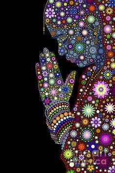 Flower Prayer Girl by Tim Gainey