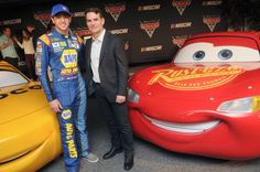 "Jeff Gordon Photos Photos - NASCAR drivers Chase Elliott (L) and Jeff Gordon attend the ""Cars 3"" NASCAR Collaboration Announcement on February 23, 2017 in Daytona Beach, Florida. - NASCAR Collaboration Announcement"