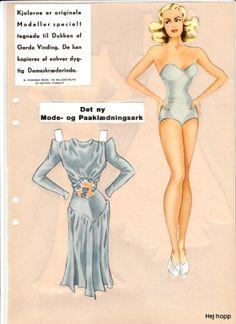 """Gerda Vinding paper doll Model """"A"""" (2 of 5) / Gerda Vinding, Danish artist, 1921-1987"""