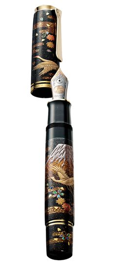 Japanese maki-e lacquered fountain pen