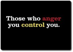 Those who anger you control you Positive Thoughts, Positive Vibes, Positive Quotes, Teen Quotes, Funny Quotes, How To Control Anger, Self Motivation, Spiritual Wisdom, Conflict Resolution