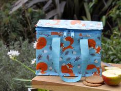 Rusty The Fox Design Recycled Foil Lined Lunch Bag   DotComGiftShop