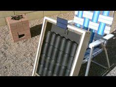 Solar Air Heater - DIY solar thermal furnace - 150F+ Temps. (beer/soda/p...