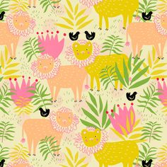 Emily Isabella is an illustrator, textile designer and art director. Available for licensing, wholesale and project based work. Textiles, Pretty Patterns, Pattern Illustration, Stuffed Animal Patterns, Surface Pattern Design, Illustrations, Pattern Wallpaper, Textures Patterns, Cute Wallpapers