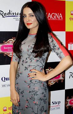 Celina Jaitly at the Radisson Blu in New Delhi. #Bollywood #Fashion #Style #Beauty #Hot