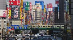 Tokyo, Japan Shinjuku district.  Experiencing the density of the population is daunting, especially for a    Californian!!!