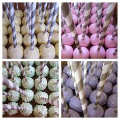 Pastel Wedding Cake Pops