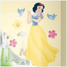 Large Disney Princess Wall Decals - Snow White Wall Mural -Removable Disney Princess Wall Decals for Decorating Nursery, Kids Room, Classroom or Playroom