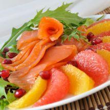 Ma recette du jour : Salade saumon pamplemousse sur Recettes.net