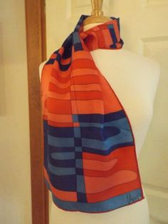 Vera Neumann Long Scarf Designer Signed Ladies by MainelyScarves