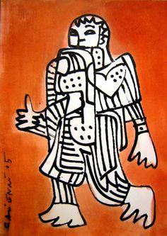 le Pouce voyageur ( encre de Chine, peinture aux pigments marocain)