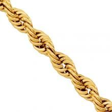 """14K Yellow Gold Fancy Chain 23"""" 4 mm Gold Chains For Men, Solid Gold, Fancy, Yellow, Mens Gold Chains"""