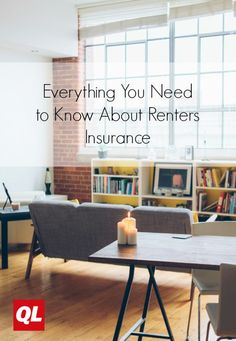 Renting and want to make sure your stuff is insured? Find out everything you need to know about renters insurance and make sure you're covered. Renters Insurance, Home Insurance, Quicken Loans, Renting, Money Tips, Need To Know, Everything, Furniture, Home Decor