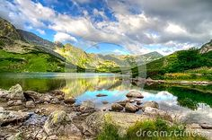 Lake In Mountains In The Early Morning Colors. - Download From Over 50 Million High Quality Stock Photos, Images, Vectors. Sign up for FREE today. Image: 59555339