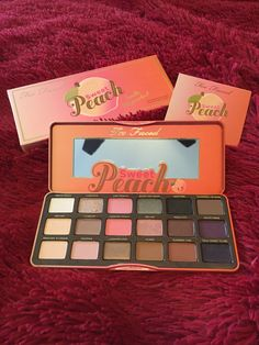 The Two Faced Sweet Peach palette goes great with red hair and brown eyes. Such pretty pink shades
