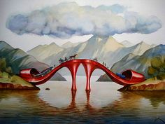 35 Surreal and Creative Oil Paintings by Artist Vladimir Kush. Follow us www.pinterest.com/webneel