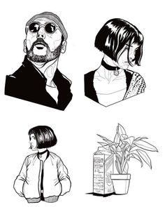 Leon the Professional fanart Tattoo Sketches, Tattoo Drawings, I Tattoo, Art Drawings, Drawing Sketches, Sketching, Leon The Professional, Art Et Design, Tattoos Geometric