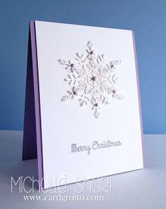 Lilac Snowflakes - CAS card - bjl