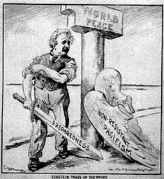 Political views of Albert Einstein - Shedding Wings of pacificism for Sword of preparedness