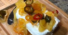 Quick and Easy Candied Peppers aka Cowboy Candy Yummy Appetizers, Appetizers For Party, Yummy Snacks, Banana Bread Muffins, Easy Banana Bread, Cream Cheese Stuffed Jalapenos, Stuffed Peppers, Cowboy Candy, Zucchini Pizza Bites