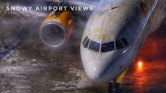 Some Snowy Airport Views - ZRH Dezember 17/18 Air France, Zurich, Aviation, December, Air Ride, Aircraft