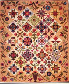 Pieces of Time - pieced & applique quilt PATTERN- Lori Smith