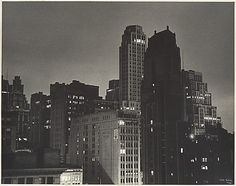 View from the Hotel Algonquin, New York, at Night. Ilse Bing (German, 1899–1998), 1936. Gelatin silver photographic print.