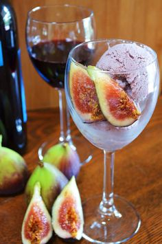 Red Wine and Fig Ice Cream