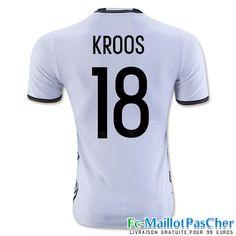 Le Nouveau Maillot du Euro 2016 Allemagne noir KROOS 18 Domicile