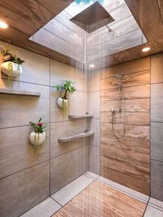 Modern Bathroom Design, Bathroom Interior, Bathroom Ideas, Bathroom Designs, Shower Bathroom, Shower Designs, Shower Ideas, Bathroom Renovations, Skylight Bathroom